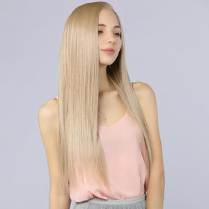 Vertically Smooth Synthetic Lace Front Wig - MILDWILD