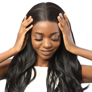 fake scalp lace front wig - MILDWILD