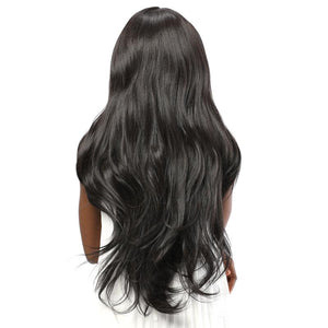Synthetic Lace Front Wavy Wig|Fake Scalp Black Color | BIMBACHEXTREM
