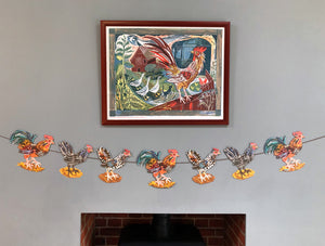 Bantam Chicken Garland