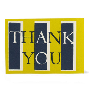 Cambridge Imprint Pack of 10 Thank You Cards Yellow and Navy