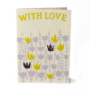 "Pack of 10 Cambridge Imprint Notecards ""With Love"""