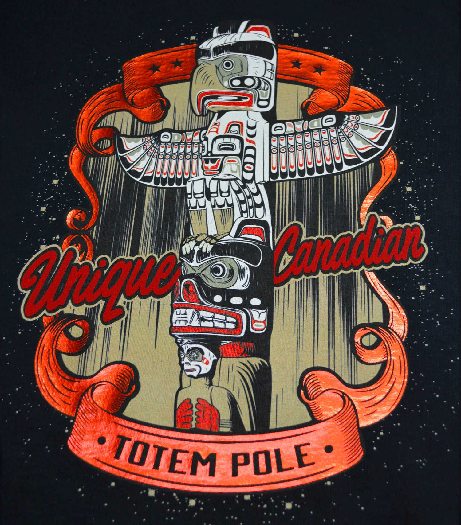Metallic Totem Pole T-Shirt
