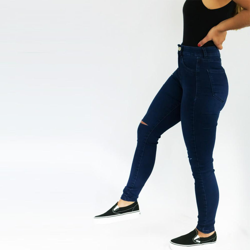 Jeggings Rip Azul