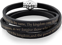 Crucibal Men's Lord's Prayer Wrap Bracelet - The Roman