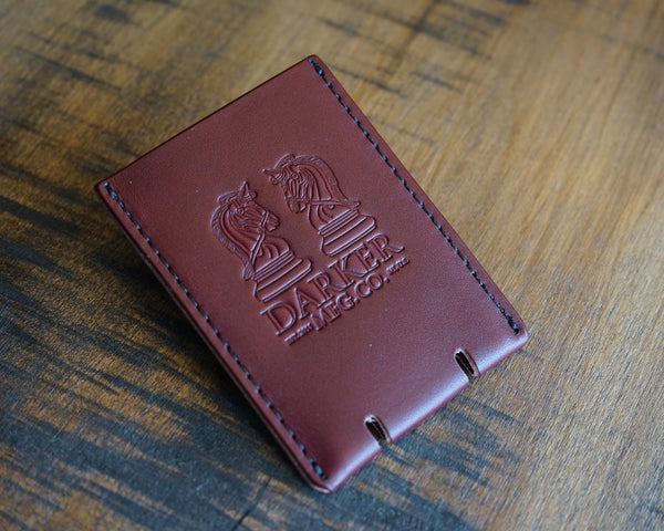 """WONDER"" CARD CASE: OX BLOOD - The Roman"