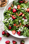 Strawberry Arugula Salad With Candied Walnuts