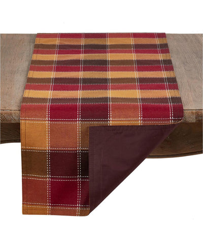 Plaid Stitched Runner - Fab Vila