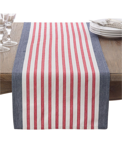 Red White Blue Stripe Runner - Fab Vila