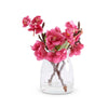Fuchsia Cherry Blossom in Glass Jar - Fab Vila
