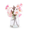 Pink Cherry Blossom in Glass Jar - Fab Vila