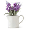 Purple Lavender In White Ceramic Pitcher - Fab Vila