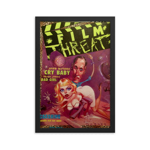 "Framed ""Cry Baby"" Film Threat Cover Poster"