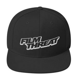Film Threat Snapback Hat Dark