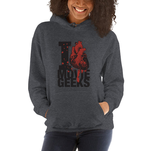 Unisex I Heart Movie Geeks Hoodie