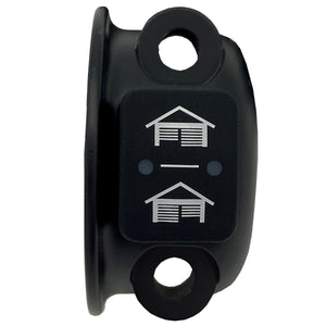 Harley Dual Garage Door Opener Remote Control (Grip Switch) 1996 & up (black/chrome)