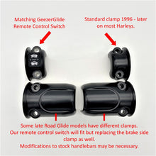 Load image into Gallery viewer, Harley Dual Garage Door Opener Remote Control (Grip Switch) 1996 & up (black/chrome)