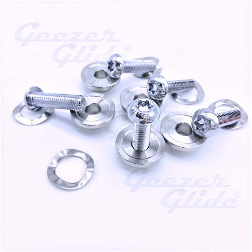 Harley Chrome Rotor Bolt Kit (5 pcs.)