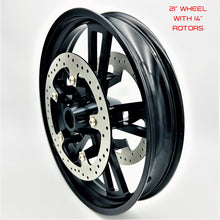 "Load image into Gallery viewer, Harley 19"" and 21"" Forged Wheel Kit with 14"" Brake Rotors"