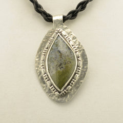 Green Moss Agate Sterling Silver Pendant