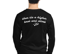 Load image into Gallery viewer, Tie a higher knot. Unisex Long Sleeve Tee - Dark Sky Market