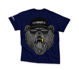 Cali Bear T-Shirt - Navy Blue