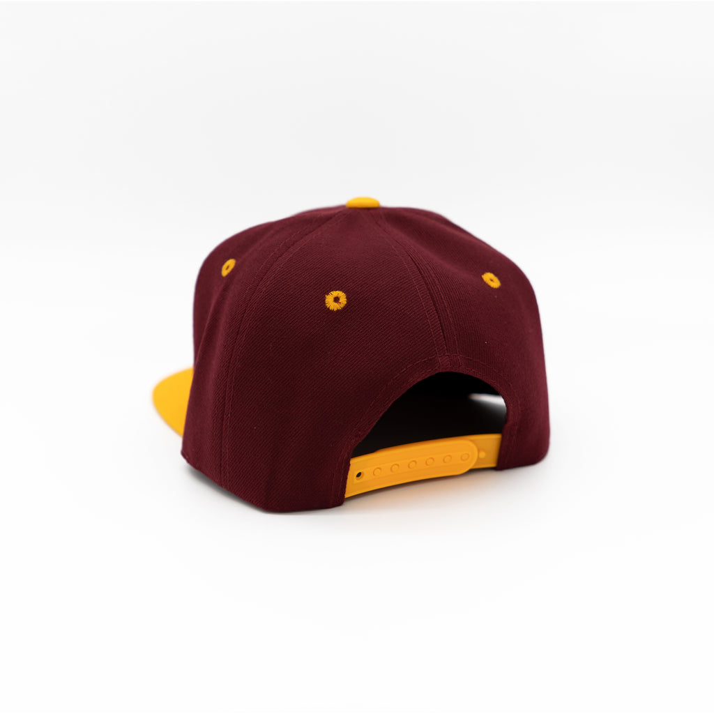 Home Team Snapback - Burgundy & Yellow