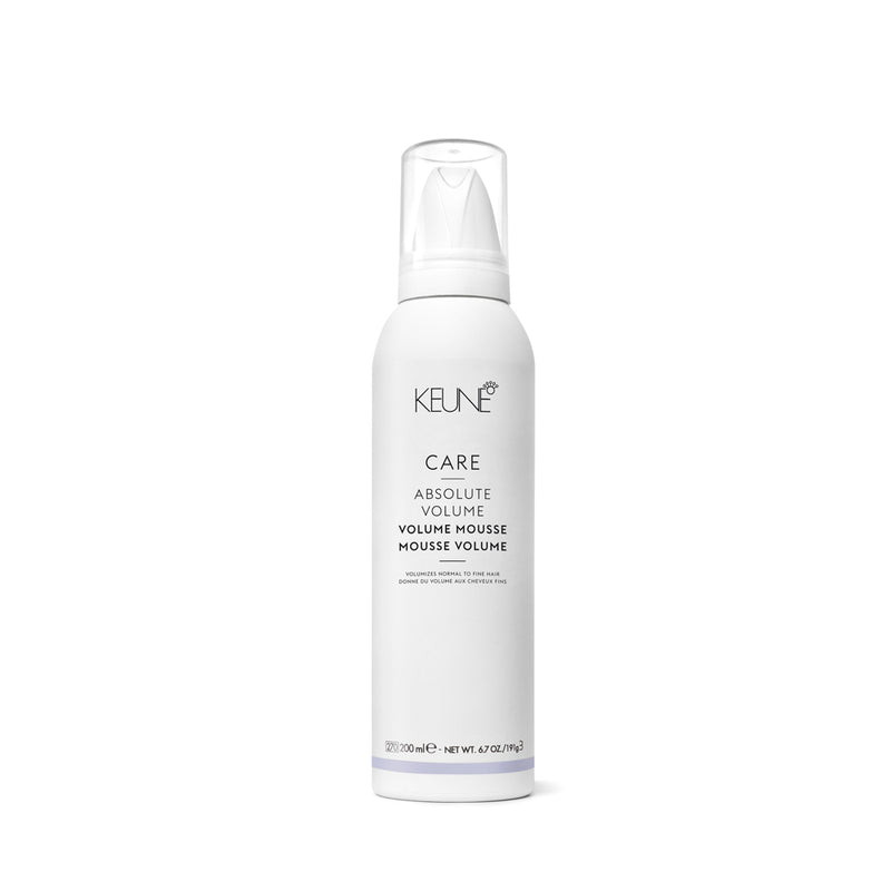 La mousse volume Keune Care Absolute Volume est épaississante et volumisante. 200ml