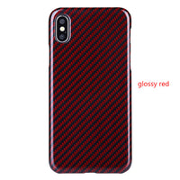 For iPhone XS Max Cover Case Luxury Slim Real Carbon Fiber