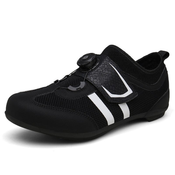 Road Cycling Shoes Carbon Fiber Black White Light Ultralight