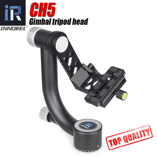 INNOREL CH5 Professional Carbon Fiber Gimbal Tripod Head for