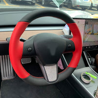 Top Perforated Leather/Carbon Fiber Car Steering Wheel