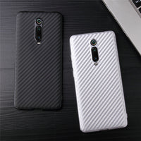 For Xiaomi Redmi K20 Pro Case Shockproof Carbon Fiber Soft