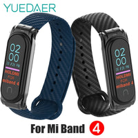 YUEDAER High Quality Mi Band 4 Strap Soft Silicon Carbon