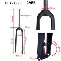 ELITA ONE Carbon fork 29inch Mountain Bike Fork MTB Cycling