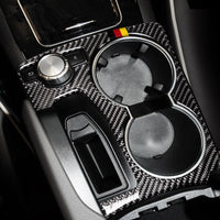 Carbon Fiber Center Console Armrest Water Cup Holder Frame