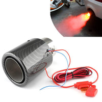 Universal Car LED Exhaust Muffler Tip Pipe Red/Blue Light