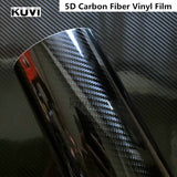 152CM PVC 5D Carbon Fiber Vinyl Foil Film Car Wrap Roll