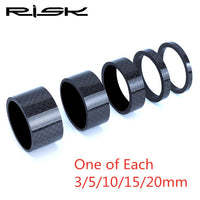 RISK Carbon Fiber Headset Fork Spacers kit Handlebar Washer