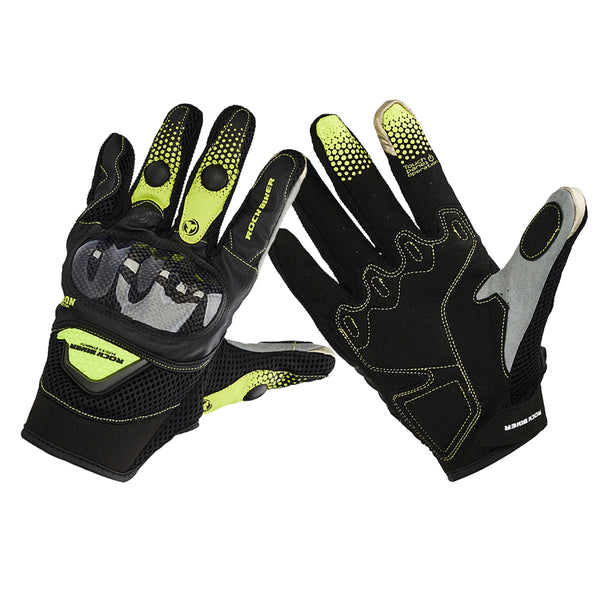 Carbon Fiber Motorcycle Gloves Summer Shockproof Breathable