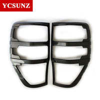 Carbon Fiber Color Tail Lights Cover For Ford Ranger T6 T7