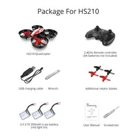 Holy Stone HS210 Mini RC Drone Toy Headless Drones Mini RC