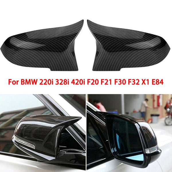 2PCS Carbon Fiber/ABS Mirror Cover E90 Car Rearview Mirror