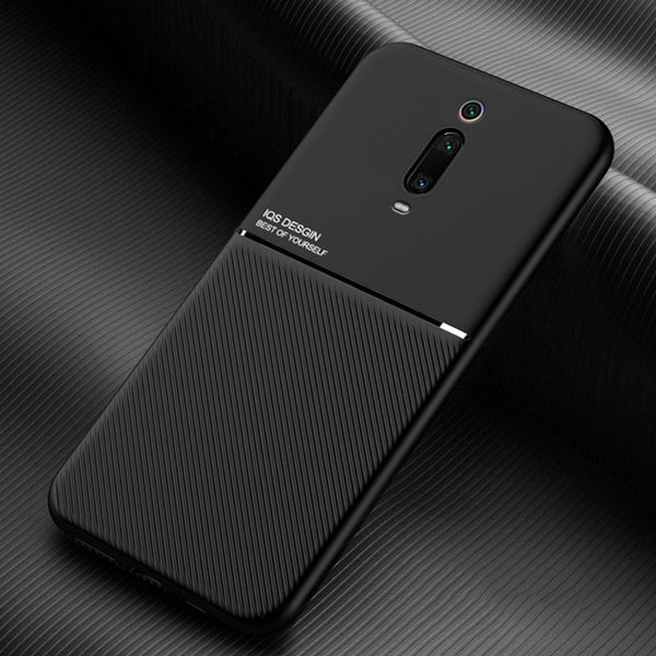 For Redmi K30 Case Simple Carbon Fiber Silicone Magnetic