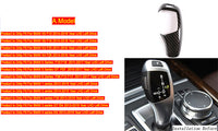 Carbon Fiber Gear Shift Handle Sleeve Button Covers Stickers