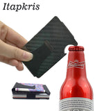 New Fashion Men Carbon Fiber Bank Credit Card Holder