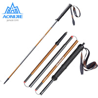 Aonijie Carbon Fiber Walking Sticks 2Pcs/Pair Ultralight