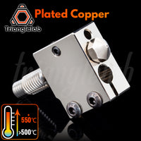 trianglelab Plated Copper Volcano Kit Nozzle+ Heat BLOCK+