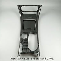 Carbon Fiber Style Car Center Console Water Cup Holder Panel