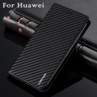 Business Carbon Fiber Case For Huawei P30 P20 P10 P9 P8 Lite